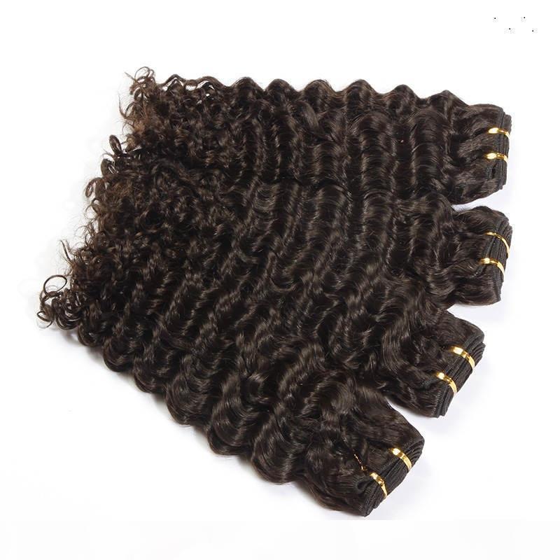 Tessuto di capelli umani di colore naturale a onda profonda 100% 10-30 pollici Possibilità brasiliana Non remy 100% di estensione dei capelli umani
