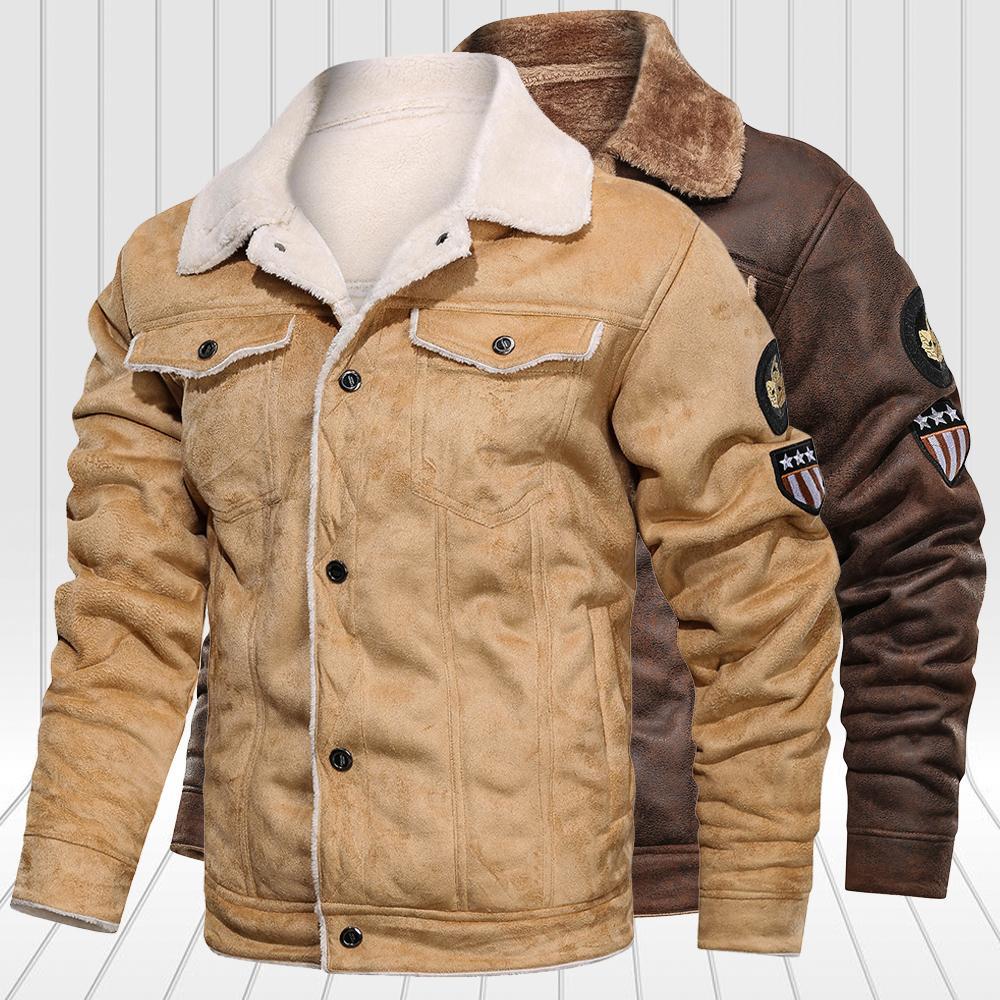 Kış Polar Erkekler Rüzgarlık Mont erkek Bombacı Moda Kalın Sıcak Askeri Ceket Erkek Giyim Giyim 201104
