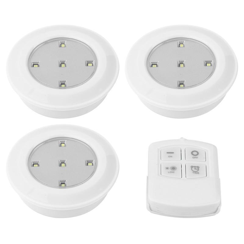 5LEDS Kabinettbeleuchtung Dimmable LED-Lichtschrank Light Nightlight mit drahtloser Remote-Beleuchtung Berührungssensor-Fernbedienungslampe