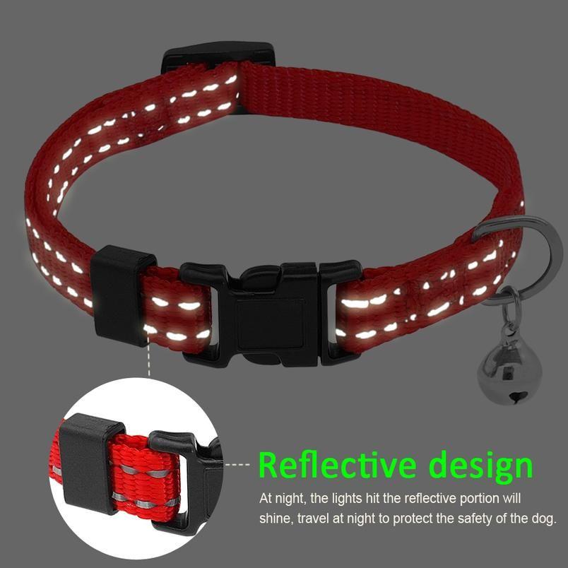 Reflektierende Nylon-Hund Anti-Floh-Tick-Kragen effektiv gegen Moskitoe-Lice-Milme-Halsband-Halsband-lange Schutz vor WMTMOW