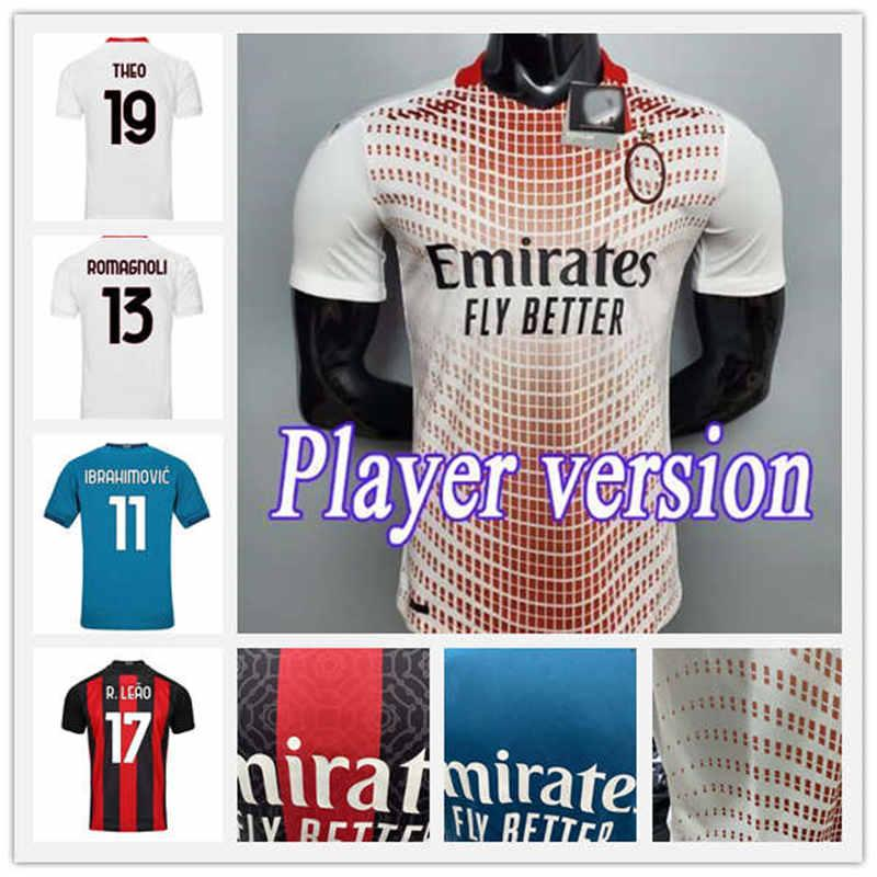 Spielerversion AC Mailand 20 21 Neue Fußball-Trikots 2020 2021 Ibrahimovic Piatek Football Hemd Paqueta Suso Higuain Calhanoglu Caldara-Trikots