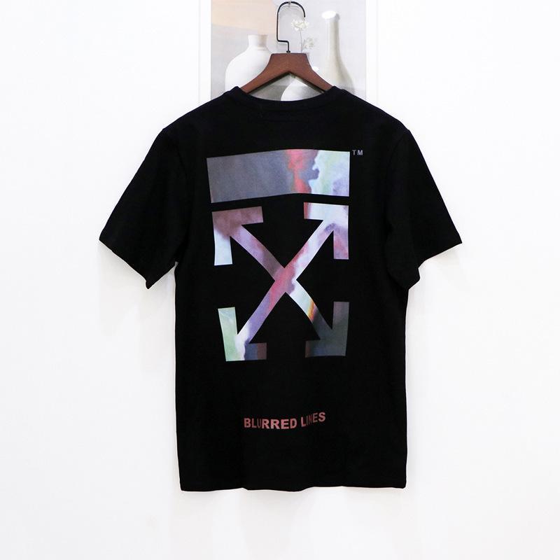 Estate New Fashion Brand Brand Manica corta stampa colorata uomo e t-shirt in cotone da donna con scollo a tondo