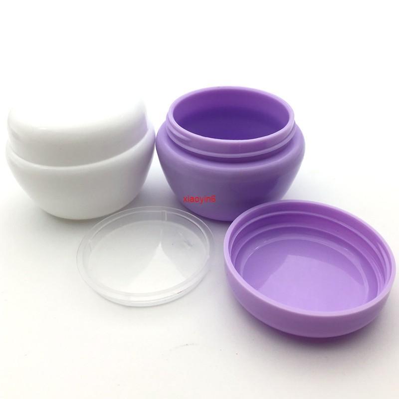 50 stücke 5g 10g 20g 30g Kunststoff Probe Gläser Töpfe Creme Lotion Reisebehälter Flüssig Lippenbalm mit Gasket Für den Versand