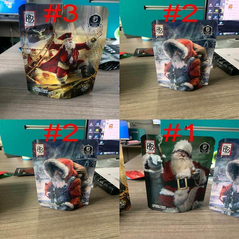110x170 Plecak Boyz Boże Narodzenie Santa Claus SF California 3.5g Pusta torba 3.5g Mylar Torby Suche Ziół Tobacco Kwiat WMTQFL BDEsports