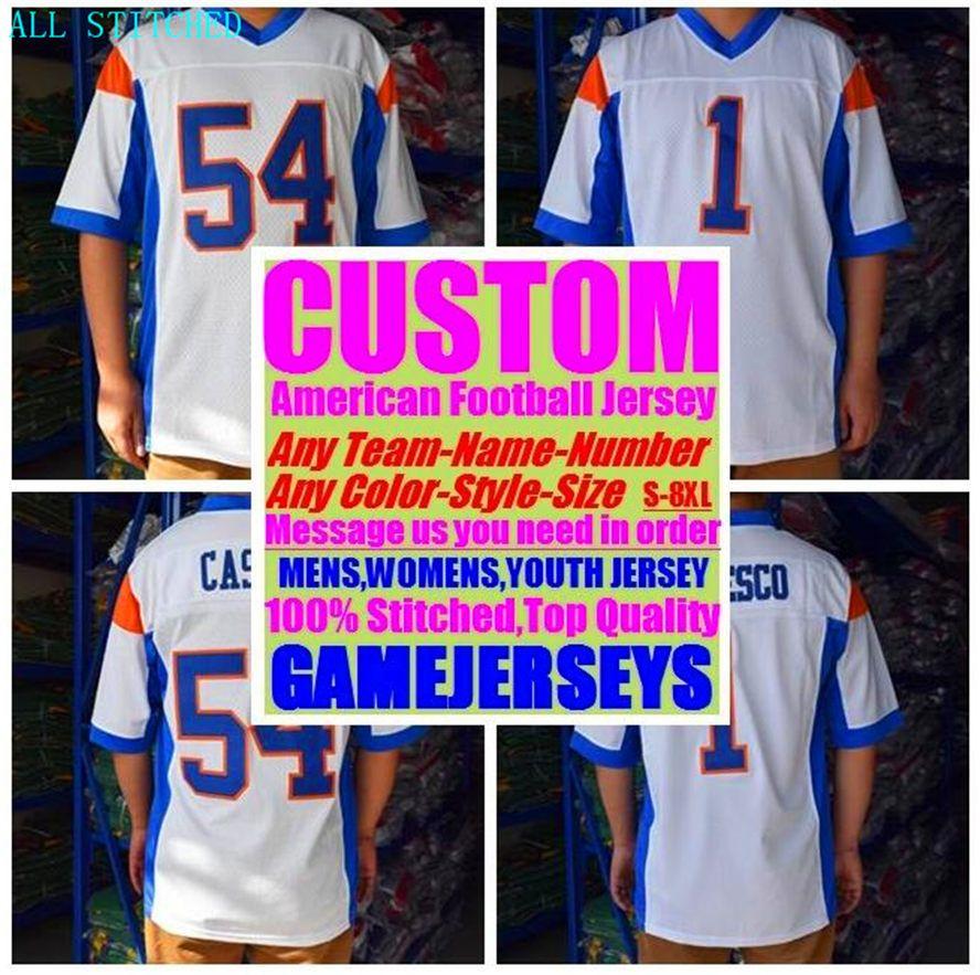 Custom American football Jerseys For Mens Womens Youth Kids BASEBALL ICE HOCKEY BASKETBALL Color baseball soccer jersey sew US XXXL 4xl 5xl