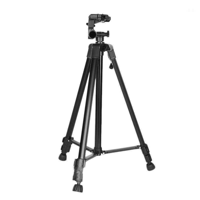 Trípode de cámara de 55 pulgadas / 140cm Tráfico de transmisión en vivo ligero con soporte para teléfono y bolsa para teléfono con cámara MAX Cargar 3kg1