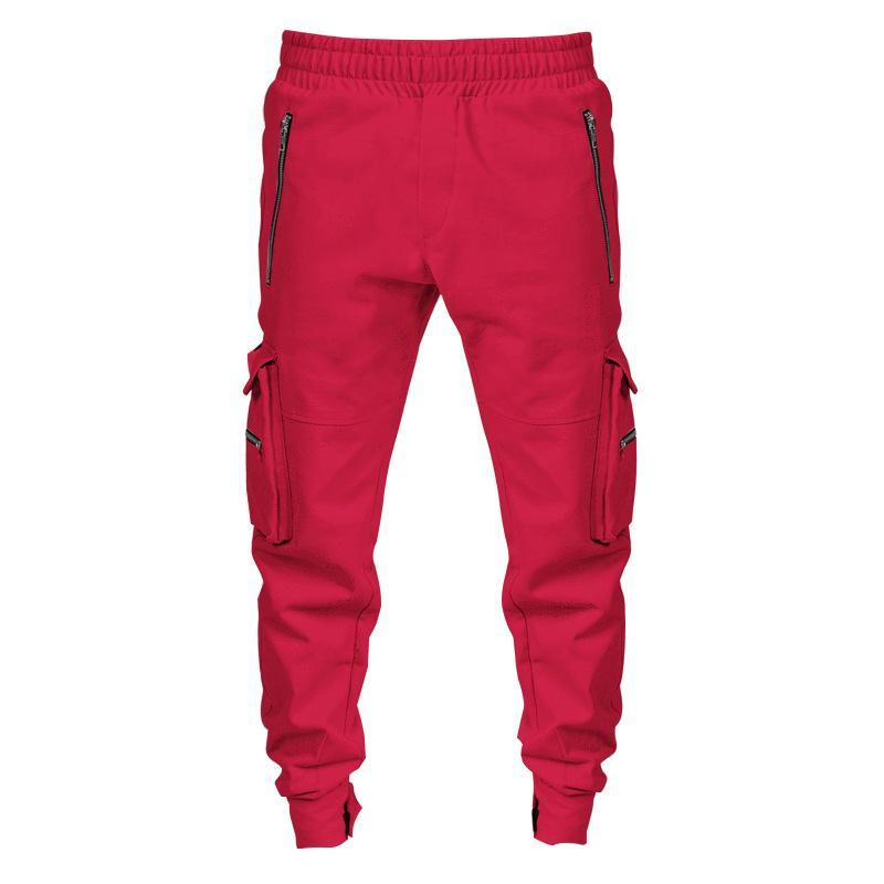 Pants for Men Overalls Men's Casual Pants Spring and Autumn New Slim Outdoor Running Multi-pocket Sports Men's Joggers