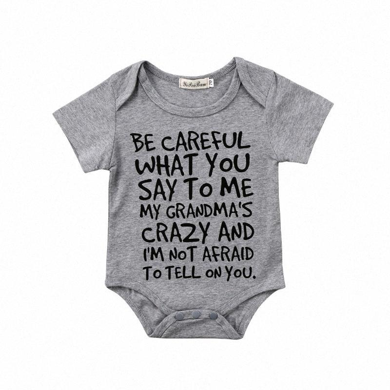 0-24M Casual Newborn Baby Boy Girl Short Sleeve Letter Print Cotton Romper Jumpsuit Outfits Baby Clothes 5K5X#