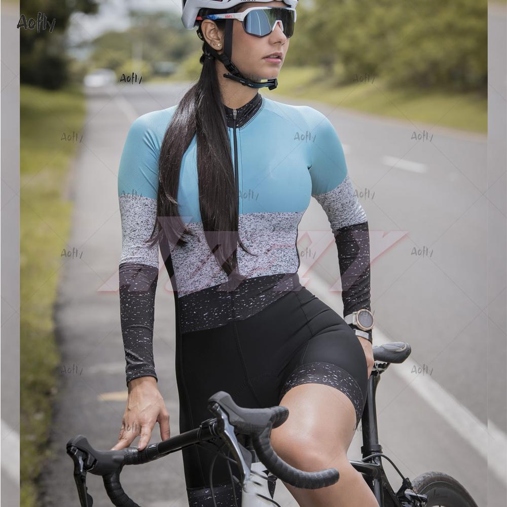 Kafitt Jasper Collection Femme Cyclisme Femme Costume à manches longues Skinsuit Vêtements de vélo Femme Vêtements de vélo Jumpsuit Ciclismo Triathlon S C0123
