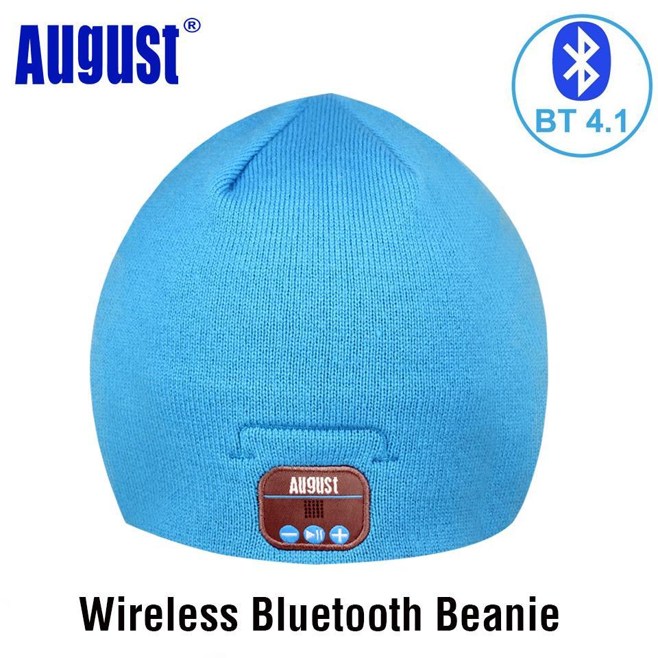 August EPA20 Cap Berretto invernale Cappello con cuffie stereo Bluetooth, altoparlante e microfono per telefoni cellulari, laptop