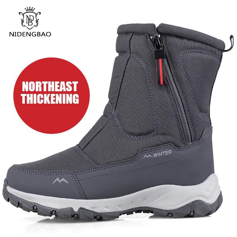 -40 derece Erkekler Pamuk Ayakkabı için 2020 Sıcak Kar Orta buzağı Kalın Peluş Kış Çizme