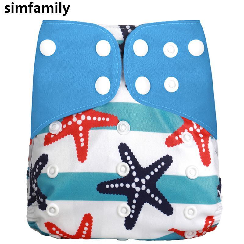 [Simfamily] 1Pcs reutilizables pañal de tela ajustable pañales de tela del pañal Fit 3-15 Kg bebé