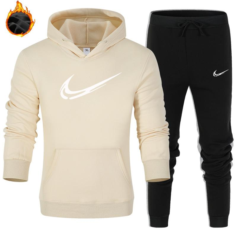 Nuova tuta Inverno uomo sportivo cappotto hoodies allentati Mens maglione Tute set Formato più Coat Pant