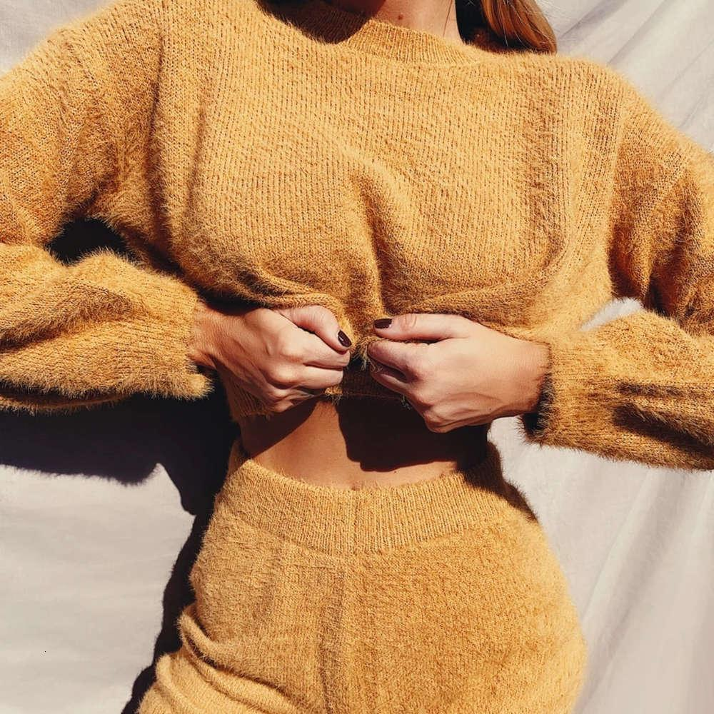 Fashion's Moda Sports Sweater Suits Sexy Cropped Tops e Shorts Set Casual Mulheres Outfits Correspondentes Conjuntos De Festa Club Fall Winter