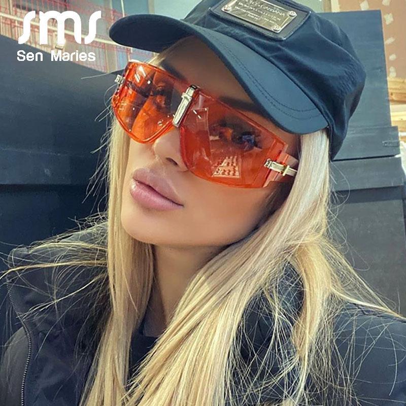 النظارات الشمسية خمر حملق المرأة 2021 الفاخرة steampunk نظارات الشمس للرجال النظارات الأزياء إطارات كبيرة إطارات واضحة عدسة الظلال uv400