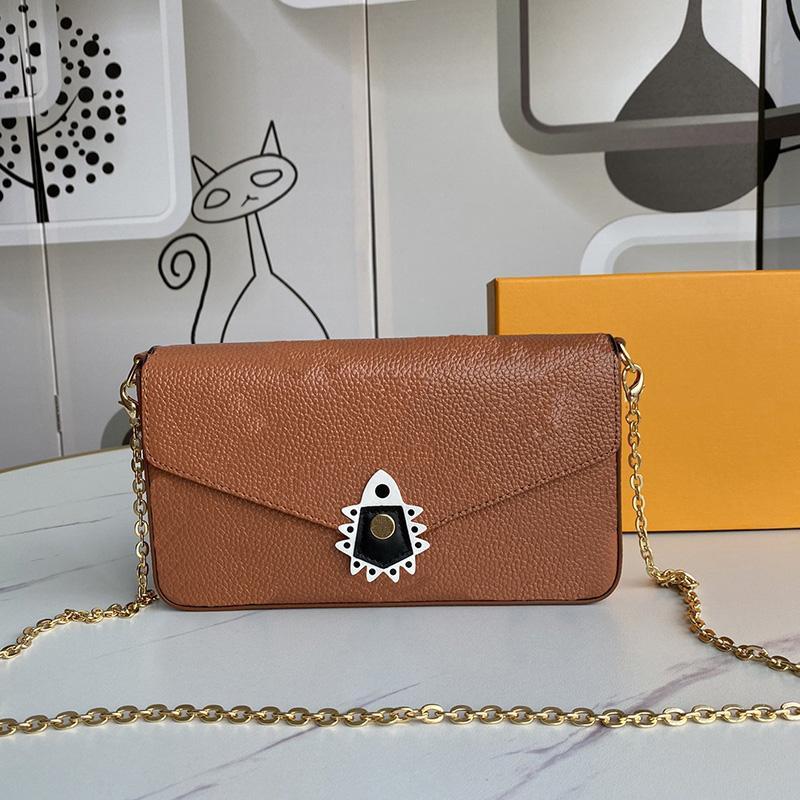 Designer Bag Crafty Pochette Handtaschen Schulter Totes Set Echte Womens Handtaschen Crossbody Box Geldbörsen Taschen mit Ledertaschen 3 Bag Bag SEOOB