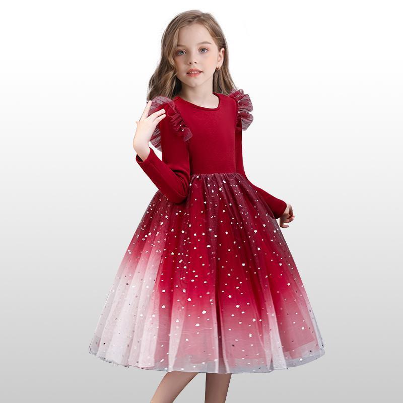 Robe de fête pour enfants fille anniversaire haute taille haute performance princesse robes enfants filles robe robe robe goîtier vêtements