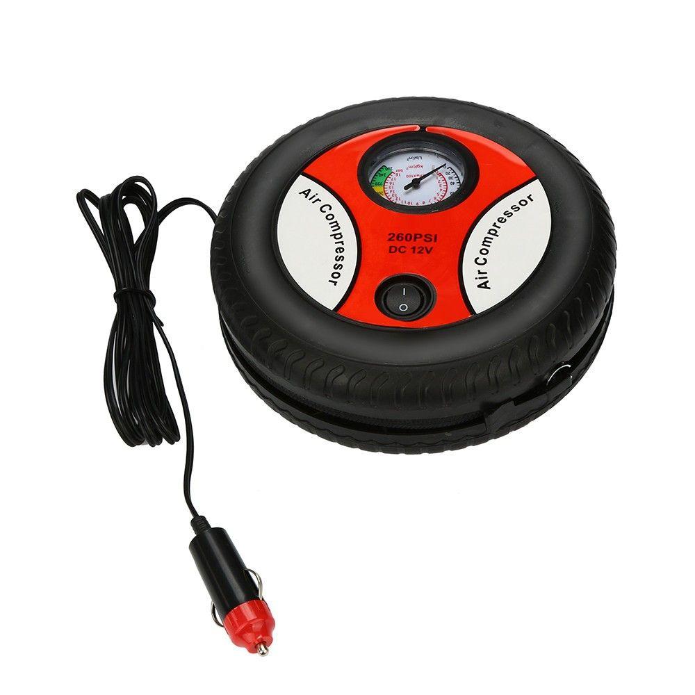 2020 Mini Portable Electric Air Compressor Pump Car Tire Inflator Pump Tool 12V 260PSI FP9 Free Shpping