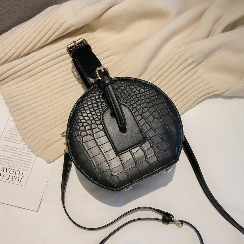 New Bag Crocodile Messenger Female Tote 2020 PU High Elegant Quality Leather Women's Designer Handbag Round Shoulder Pattern Bag Vmdqc