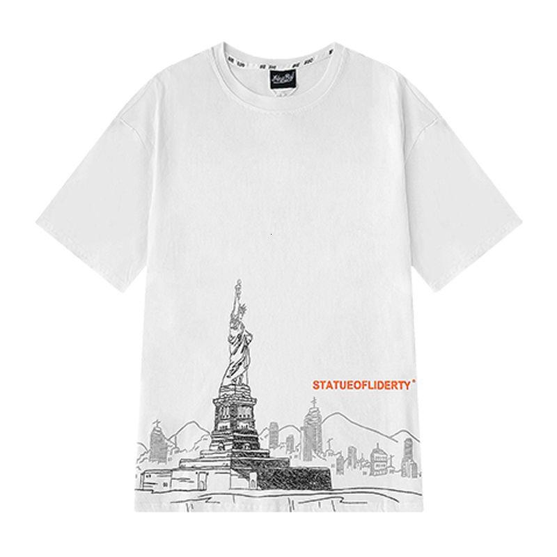Hot Selling Mens Stylist T Shirt Short Sleeve Comfortable Men Women Pattern Print Tee Size M-XL