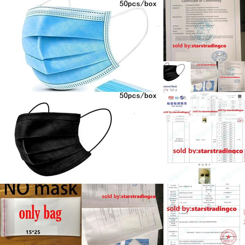 Masques KF94 3-PLY DVXWW ANTI-POUSSIER en gros anti-poussière Anti- Nonwoven PCS 10-50 Masque Tissu élastique Earboop4ci0 Jetable Pkuma