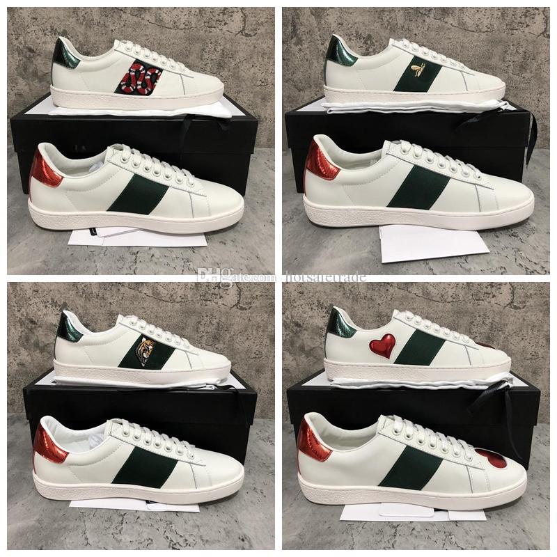 Lüks Tasarımcı Ayakkabı Erkekler Kadınlar Beyaz Lüks Tasarımcı Sneaker Lace Up Hakiki Deri Sneakers Moda Kadınlar Rahat Tasarımcı Sneaker