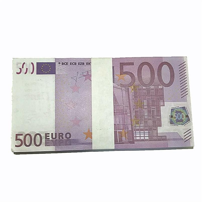 Billete de billetes de billetes de billetes de billetes de euro sin marcar de alta calidad Simulación 20 50 Euro Money Real Fax Faxing Billetes Props J17