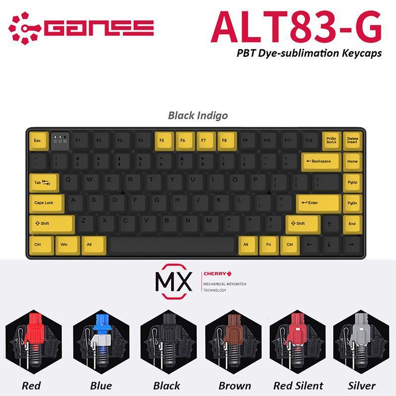 Original GANSS ATL83-G 2.4GHz Wireless Cherry MX Switch Mechanical Gaming Keyboard with PBT keycaps Gamer Type-C USB Port