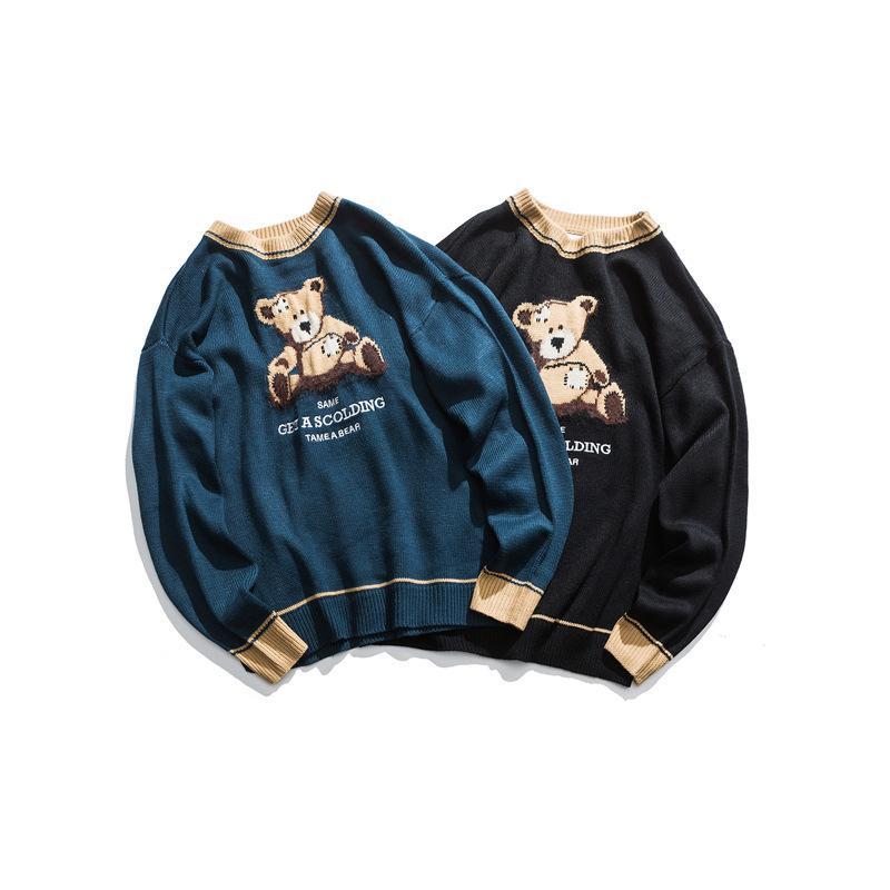 2021 Paare, gekleidet als Teenager-Version Der kleine coole männliche und weibliche Pullover Hongkong Windbären Übergröße Net Red HQVP