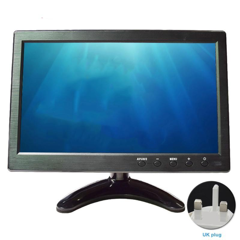 10.1inch réglable Angle Universal Bus Portable LCD Moniteur numérique 1024x600 ultra-mince Télécommande pour PC TV VGA BNC voiture