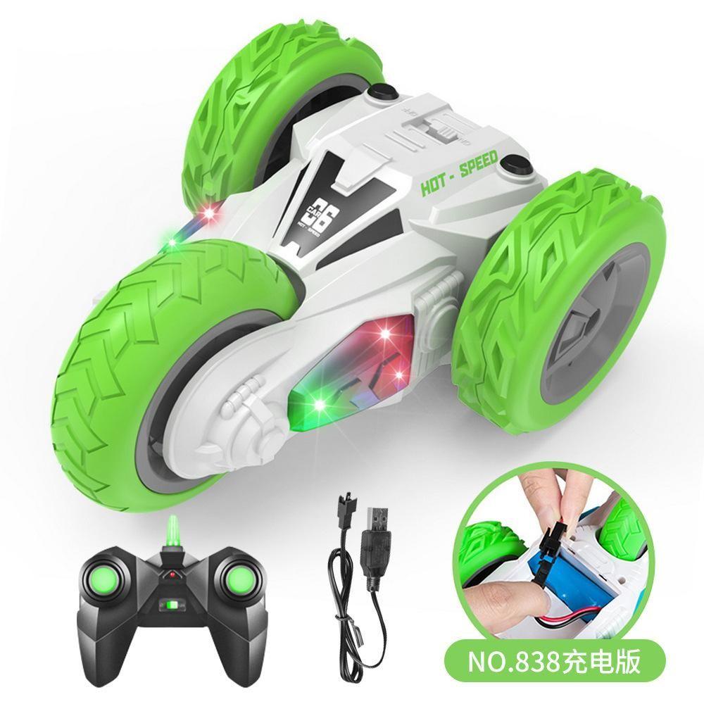 Tres ruedas, niño, cara, control eléctrico, truco Dumper, cross, escalada, doble, ligero, juguetes para automóviles, niños, remoto RC, carga, UDNWG