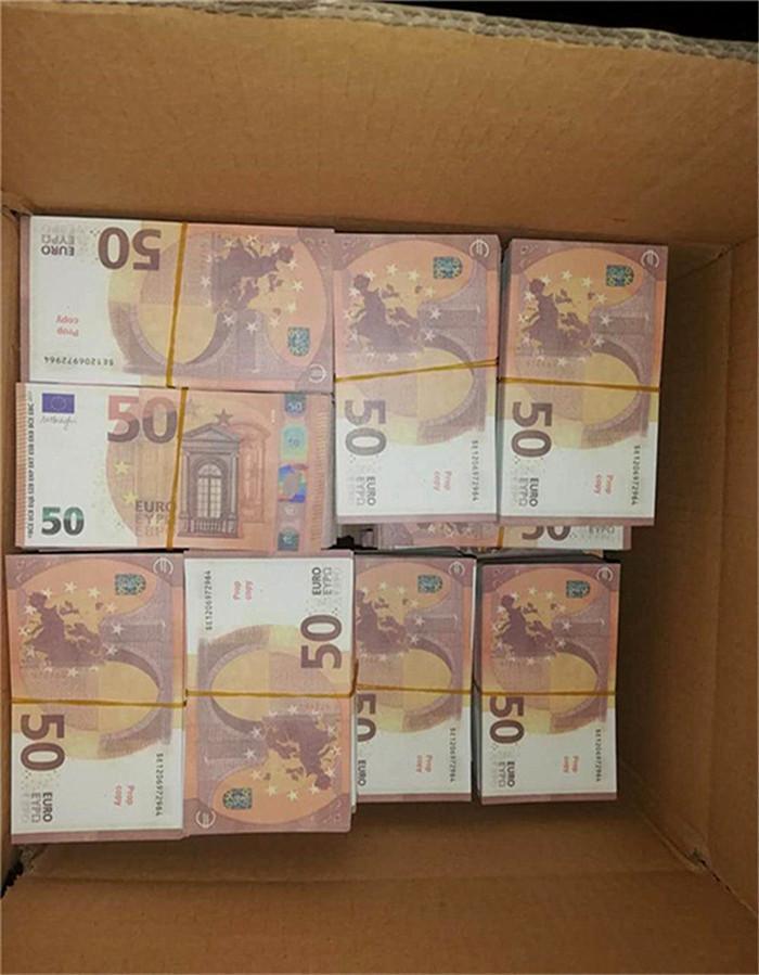 2020 vente chaude contrefaite 50 euros billets de billet de billet de billets d'euros euros gunnote de banque de banque d'atmosphère