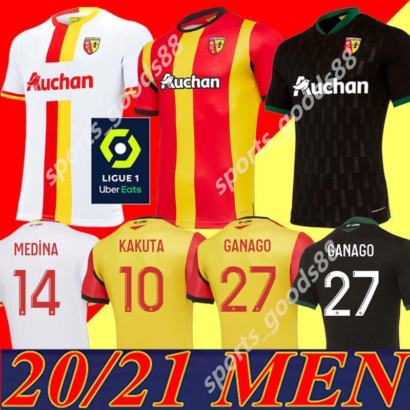 20 21 Maillot RC Линнс Футбол Джетки Ganago Gradit Virtes Cahuzac Perez 2020 2021 Линза Футбольные Рубашки Маурисио Наборы Kakuta Maillot de Foot