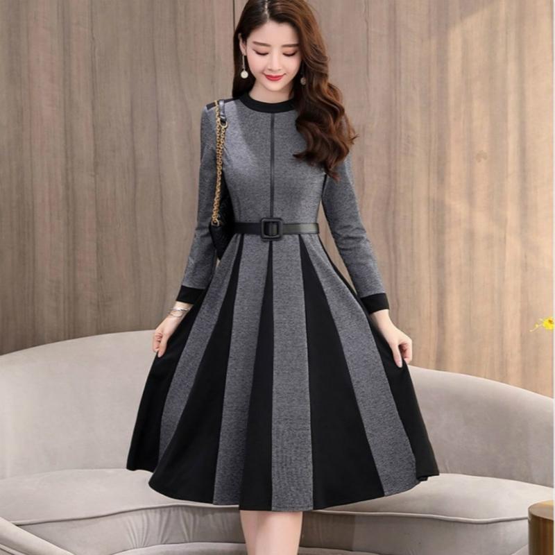 Шерстяная леди женщин платья осень зима 2020 Новый стиль Женские Благородный над коленом вскользь юбка с пальто Длинная юбка