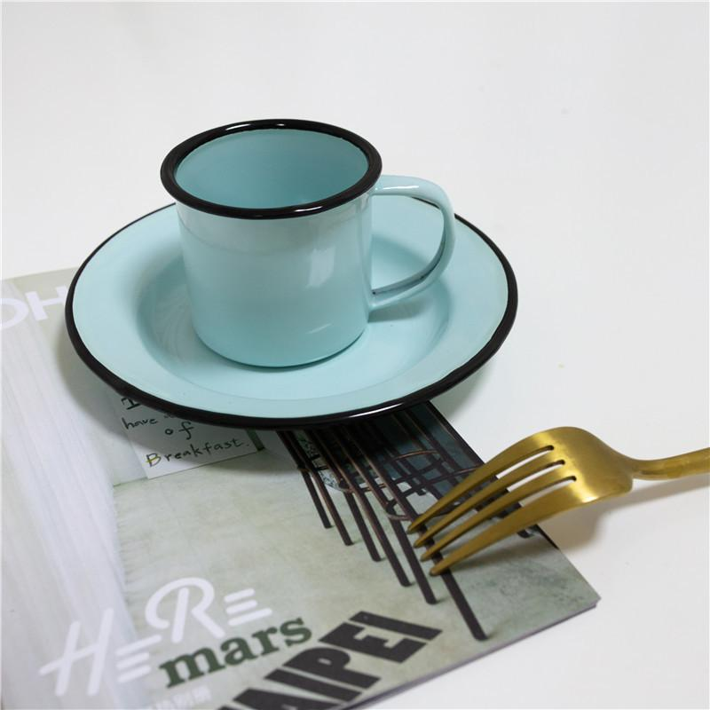 Japonais Vintage Coffee Coffee Cuivre Ceramique Simple Cups Soucoupe Ensemble Funny Cuce Creative Crockery Tazas de Ceramica Coffee Set AC50BS X1027