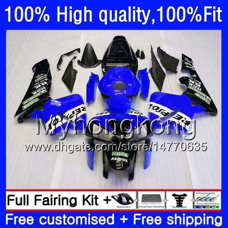 Injektionsform för Honda CBR600RR CBR 600RR 600F5 600CC F5 05 06 48HM.0 CBR600 RR CBR600F5 CBR 600 CC RR 2005 2006 OEM Fairing Blue Repsol