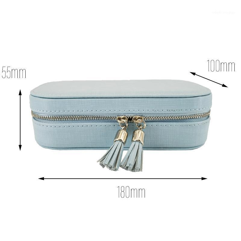Makeup Box Earring Ring1 Storage Jewelry Organizer Jewlery Flannel Boxes Packaging Ring Kjmrm