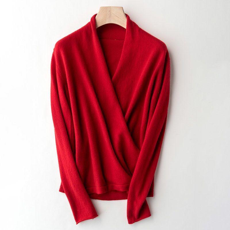 100% puro lã malha camisola mulheres v-pescoço de manga longa padrão cashmere kitwear inverno nova moda feminina jumpers