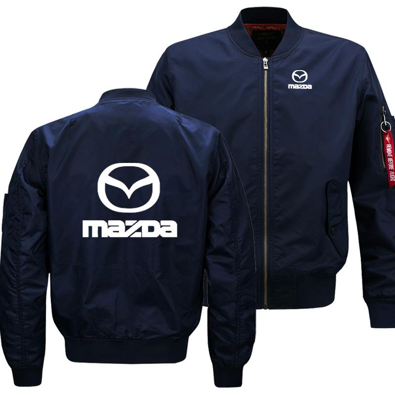 Casual New Mens Flying jacket Mazda Car Logo Printing Spring Autumn Men's Sweatshirt Windproof Warm High Quality Men's jackets