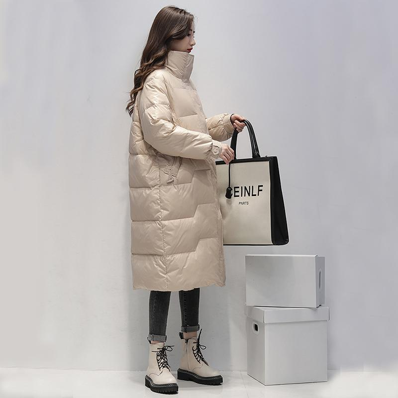 Cappotto Ailegogo 2020 lungo giacca invernale donne il 90% bianco Anatra Parka Nuova femmina giallo giù Blu spessore caldo Outerwear