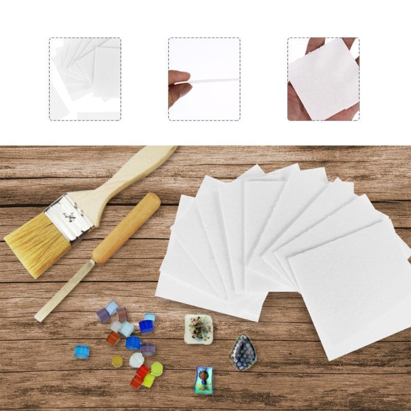 30 fogli in vetro fusione di carta microonde forno al forno carta fodera in ceramica strumento