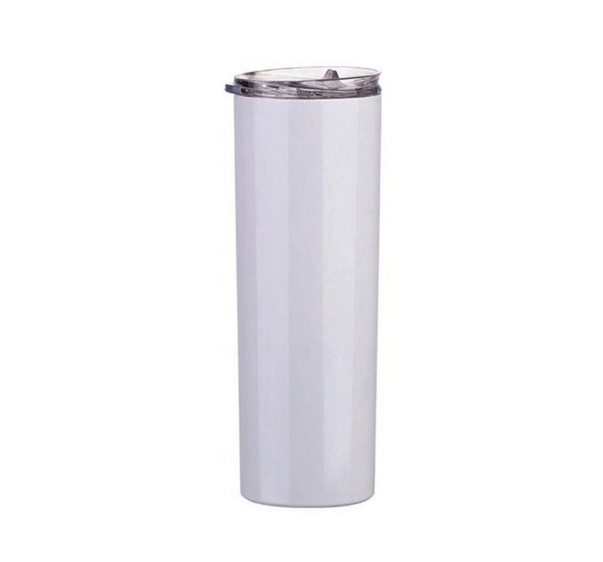 20 oz de acero flaco Vasos sublimación Blanks Vaso inoxidable taza de café taza de cerveza clásica con tapa pajas transporte marítimo de ZZA