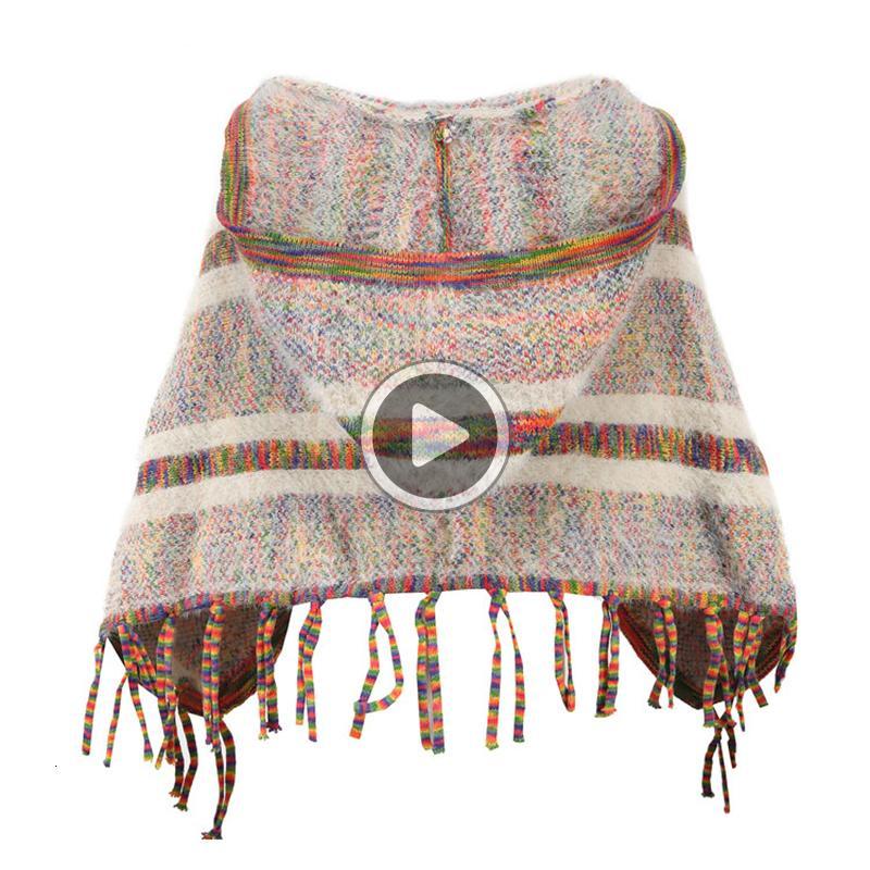 FE35 Kız Kazak mont Kış Çocuk Cloak Sıcak Triko Casl Bebek Girls Triko hırka Outwear Giyim 6 8 yıl