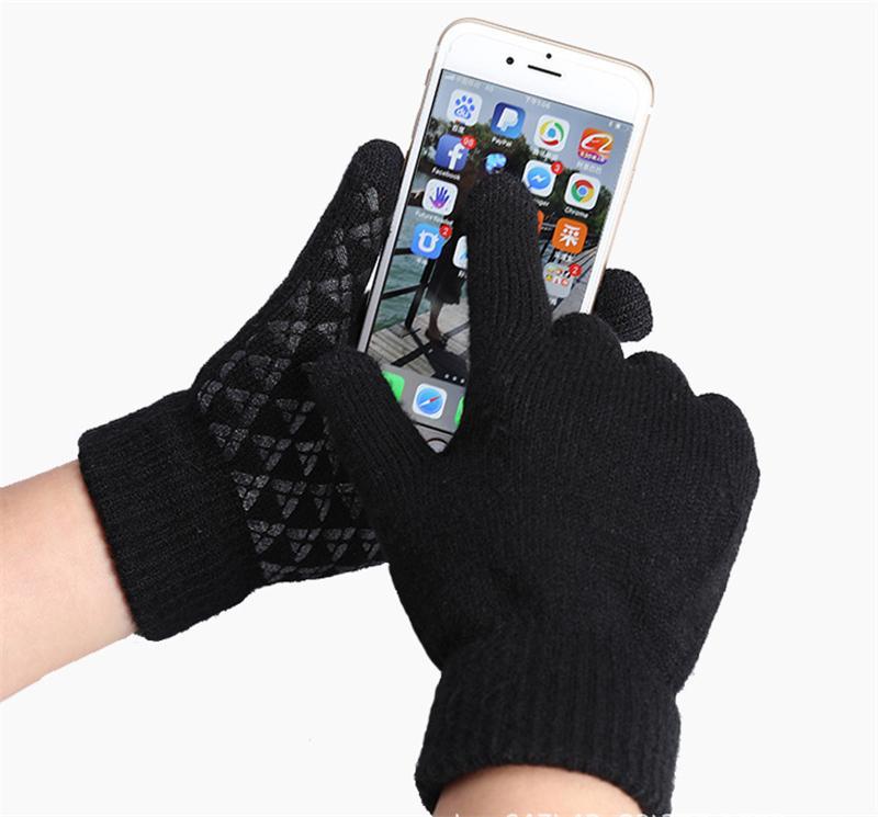 7 colori più spessa Touch Twily Warm Guanti caldi Touch Screen Magic Acrilico Glove Mobile Phone Universal Touch Screen Glove