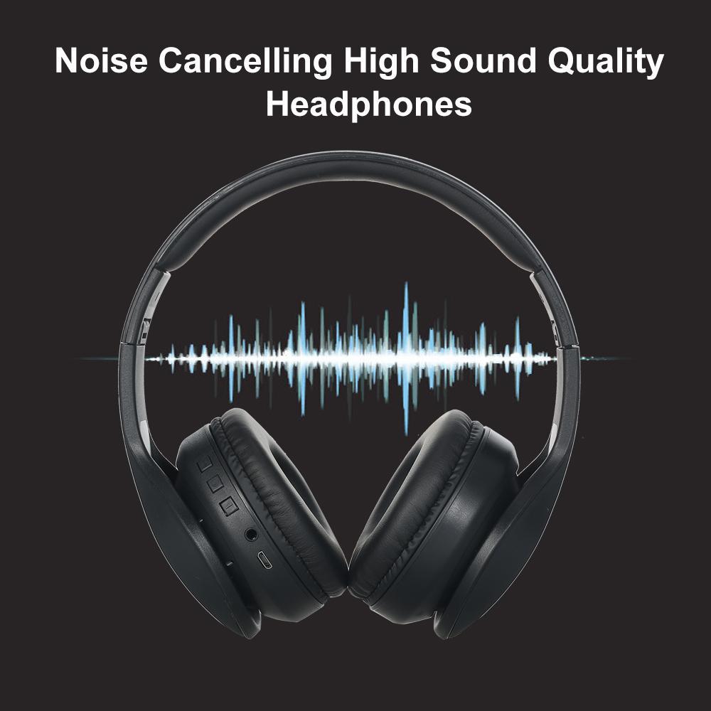 2020 ajustable para auriculares inalámbricos Bluetooth 5.0 con cancelación de ruido sobre el oído auricular para juegos AUX IN auriculares con micrófono Deporte Auricular