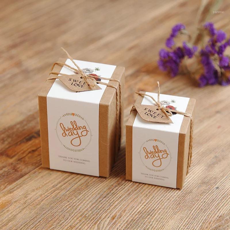 50 шт. / Лот Крафт-бумажная площадь, картонная коробка, маленькая / большая, белая ремесло бумажная коробка, коробка подарочные пакеты конфеты коробки оптом1