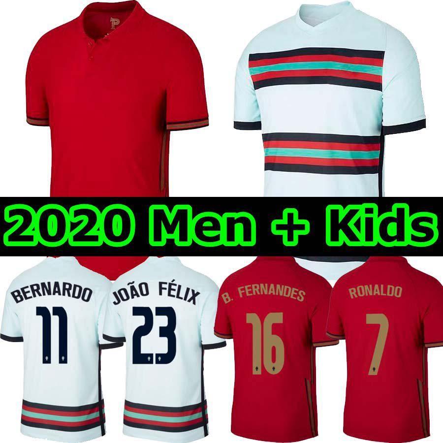 2020 2020 Portugal RONALDO Soccer Jerseys JOAO FELIX NEVES BERNARDO RUBEN NEVES National Team ...