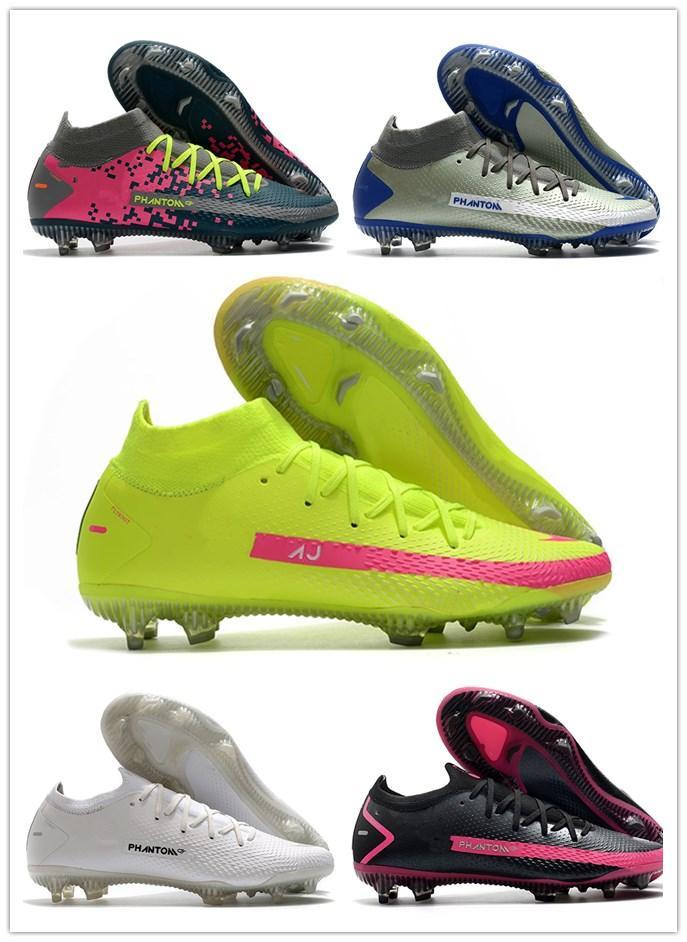 حار رجل فانتوم gt النخبة الديناميكي صالح fg كرة القدم الأحذية الأحذية الأحذية المرابط الجلود المدربين المسامير عالية الكاحل الجوارب كرة القدم حجم 39-45