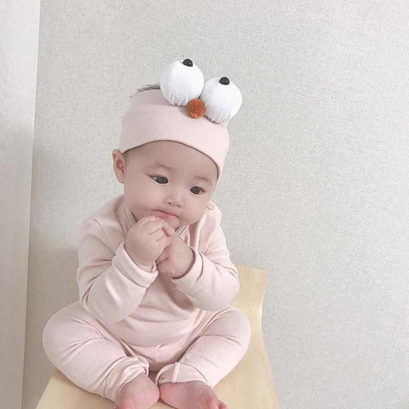 Baby Boy Girl Roupas Conjunto Outono Algodão Casual Sólido Sólido Manga Longa Tops + Calças para 0- Nightwear Bebê Sleepwear Bebé Roupas LJ201223