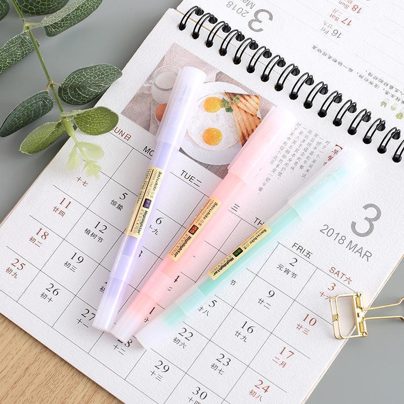 Highlighters 10 قطع أبيض الثلج متعدد الألوان المائية القلم تمييز مجموعة مائل بطانة رسم ماركر مكتب المدرسة طالب اللوازم H61291